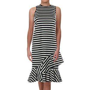 NWT Ralph Lauren Stripe Flounce Ruffle Midi Dress